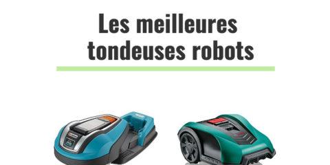 les meilleures tondeuses robots