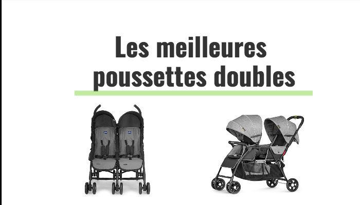 Les meilleures poussettes doubles pour jumeaux   les plus compactes et  légères a92c509ca329